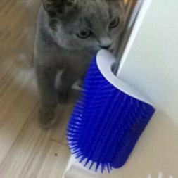 Cat Self Groomer Brush Wall Corner Grooming Massage Comb Wit
