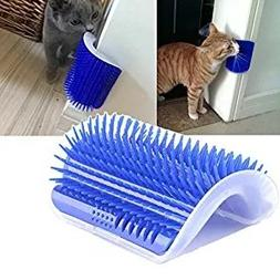 Homiego Cat Self Groomer with Catnip, Cat Corner Massage Bru