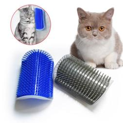 Cat Self Massager Scratcher Brush Comb Wall Corner Cat Scrat