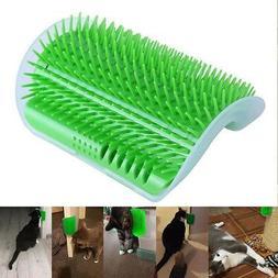 US Pet Cat Self Groomer Brush Wall Corner Grooming Massage C