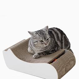 PGFUN Cat Shaped Corrugated Scratching Pad Board Kittens Scr