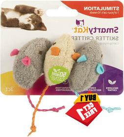 Cat Skitter Critters Mice Smartykat Toy Catnip 100 Recycled