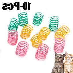 Legendog 10PCS Cat Spring Toys Interactive Funny Simple Plas