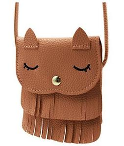 ZGMYC Cat Tassel Shoulder Bag Small Coin Purse Crossbody Sat