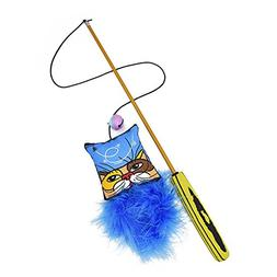 KTCLCATF Cat Teaser Wand Interactive Feather Toy Fluffy Feat