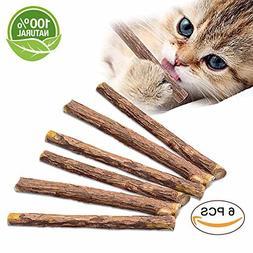 VIVOO Cat Teeth Grinding Chew Toy Catnip Stick Natural Matat