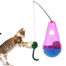 Keebgyy Cat Toy, Automated Activity Toy Automatic Spinning C