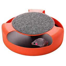 Cat Toy with Rotating Mouse Kitten Toy Spinning Mouse Rotate