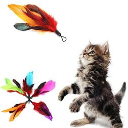 Cat Toy Feather 5Pcs/set REFILLS For Bird Wand Home Pet Cat