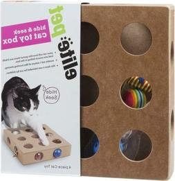 Cat Toy Box Interactive Indoor Puzzle 3 Balls And Mouse 17 H