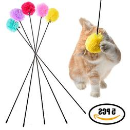 Cat Toy Interactive Cat Wand - Colorful Cotton Plush String