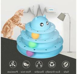 Cat Toy Roller Cat Toys 3 Level Towers Tracks Roller with Th
