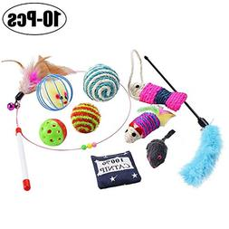 Legendog Cat Toys, Interactive Feather Cat Toy Ball Sisal Mi