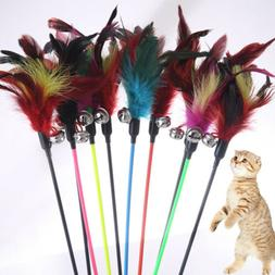 Cat Toys 1PCS With Small Bell Random Color Feather Make A Ca