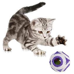Cat Toys - 1pc Purplecat Pet Sisal Rope Woven Ball Teaser Pl