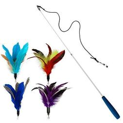 EcoCity Cat Toys - Cat Teaser Toys - Include Cat Wand and Na