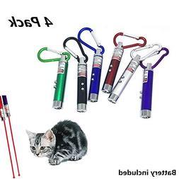 YY PET 4 Pieces Cat Toys with Cat Teaser Wand,Cat Catcher, 2