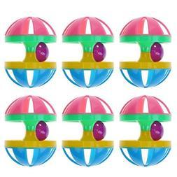 Cat Toys - 6pcs Set Abs Hit Color Bead Small Bells Ball Kitt
