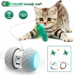 Cat Toys Automatic 360 Degree Self Rotating & Charging, Larg