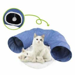 PAWISE Cat Toys Cat Tunnel and Cat Cube Pop Up Collapsible K