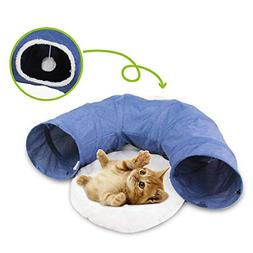 Cat Toys Cat Tunnel and Cat Cube Pop Up Collapsible Kitten I
