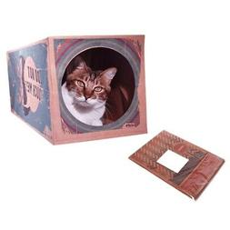 Cat Toys Collapsible 2-way Tunnel Paper Bag Tube Toy Cat Hou