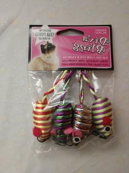 "cat toys ""Diva Bling"" by Penn Plax, pkg of 4 shiny colorful"