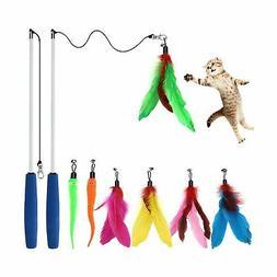 cat toys interactive cat feather wand kitten