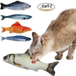 B Bascolor Cat Toys Interactive Catnip Emulational Fish Toy