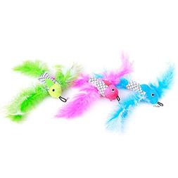 ZoyPet 2 Pcs Cat Toys Interactive Refill Replacement Feather