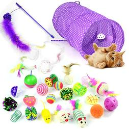 Whoobee 24PCS Cat Toys Kitten Toys Assortments,Variety Pack