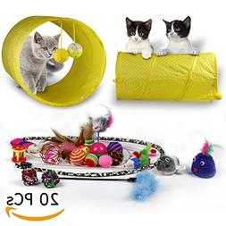 RIO Direct Cat Toys Kitten Toys Variety Pack - Cat Tunnel, I