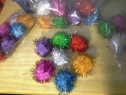 CAT TOYS     PACK OF  7     XL POM POM  SPARKLE    MULTI-COL