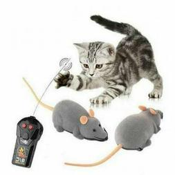 Cat Toys Remote Control Wireless Simulation Plush Mouse RC E