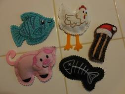 Handmade Cat Toys Stuffed With Organic Catnip - Fish Pig Chi