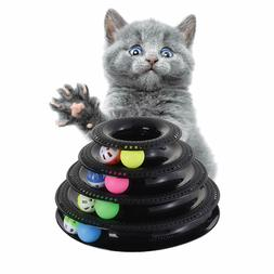Cat toys tower of track with 8 balls, Cat toy balls, Interac
