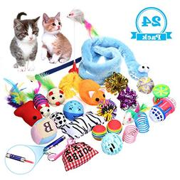 FOCUSPET Cat Toys Variety Pack,Best Cat Toys for Exercise,In
