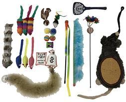 Penn Plax Cat Toys Variety Pack, Cat Scratcher Wands Cat Toy