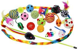Sweet Pete Cat Toys 20 Piece Variety Pack Includes Cat Dance