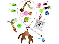 hopas Cat Toys Variety Pack 20 Pieces Interactive Kitten Toy