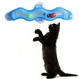 Cat Training Toys Window Suction Cup Track Interactive Ball
