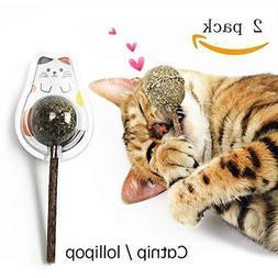 Ying-D 2 PCS Natural Cat Treats Cat Toy Catnip Lollipop,Cat