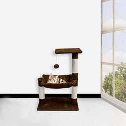 WELLHOME Cat Tree With Pet Scratching Posts Perch Furniture
