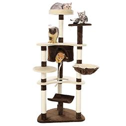 Cat Tree, Cat Scratching Tree with Sisal Post for Kittens, C