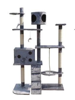 Cat Tree Activity Centre Scratcher Scratching Post Toys Bed