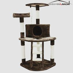 Cat Tree Brown Kitten Activity Center Multi-Level Scratching
