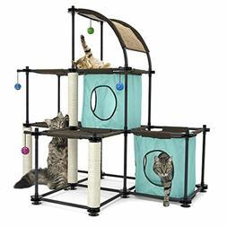 Cat Tree Kitty City Claw Mega Kit Cats Furniture Toy Bed Scr
