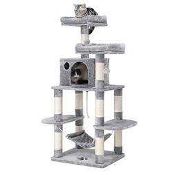 "SONGMICS 59"" Multi-Level Cat Tree with Sisal-Covered Scratch"