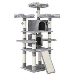 "SONGMICS 67"" Cat Tree Condo with Scratching Post Pad Cat Tow"