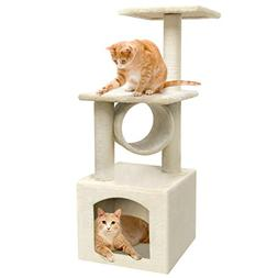 BEAU JARDIN 36 Inch Cat Tree Condo Furniture Scratcher with